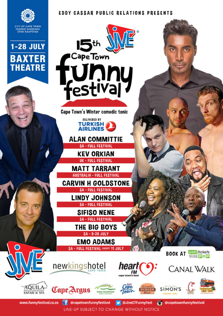 Jive Cape Town Funny Festival Poster
